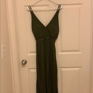 Lulus Olive green open back maxi